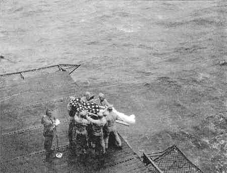 USS Essex - Burial at Sea