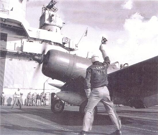 F4U Corsair Being Launched