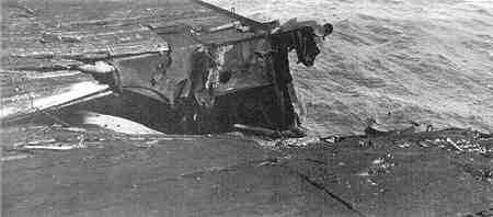 USS Essex Flight Deck Damage