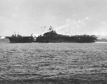 Kamikaze Strikes USS Essex