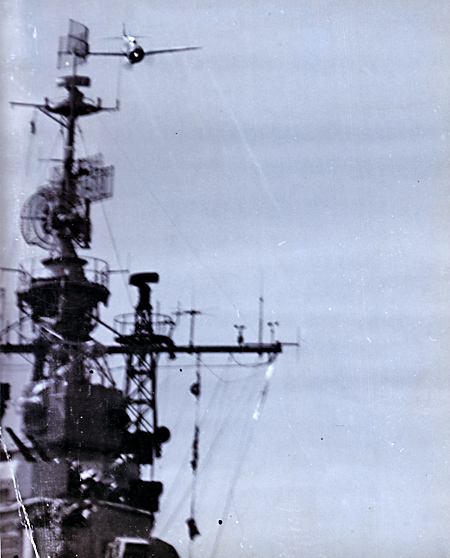 USS Essex Attacked by Kamikaze