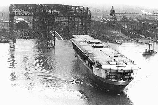 Launching of USS Ranger, 1933