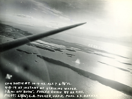 SBD 4-B-19 Strikes the Water